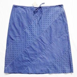 """Floral Swiss Dot Tie Waist Skirt 4 (30"""" x 20.5"""")"""